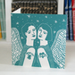 Tattoo Angel Linocut Christmas Card
