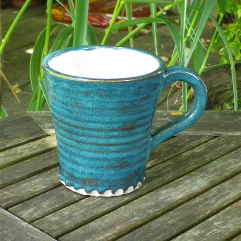 Handthrown coffee mug in stoneware