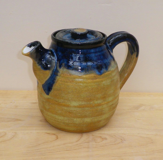 Teapot Hand Thrown In Stoneware Pottery Ceramic Folksy