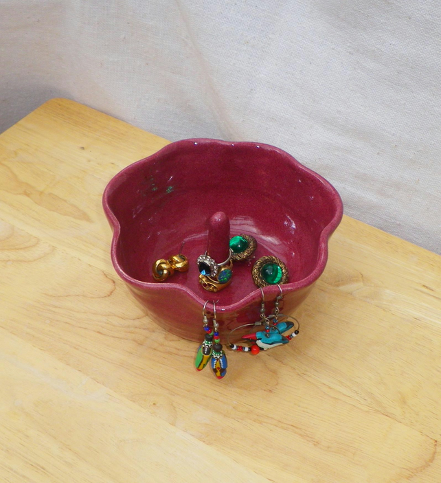 Jewellery ring earring bowl handthrown stoneware