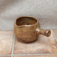 Sauce or gravy jug or pitcher wheelthrown in stoneware pottery ceramic
