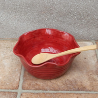Cereal, salad, soup or noodle bowl hand thrown in stoneware