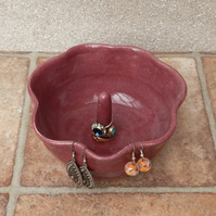 Ring earring jewellery bowl for organising displaying your jewelry handthrown