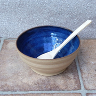 Soup, noodle, cereal or dessert bowl hand thrown stoneware pottery