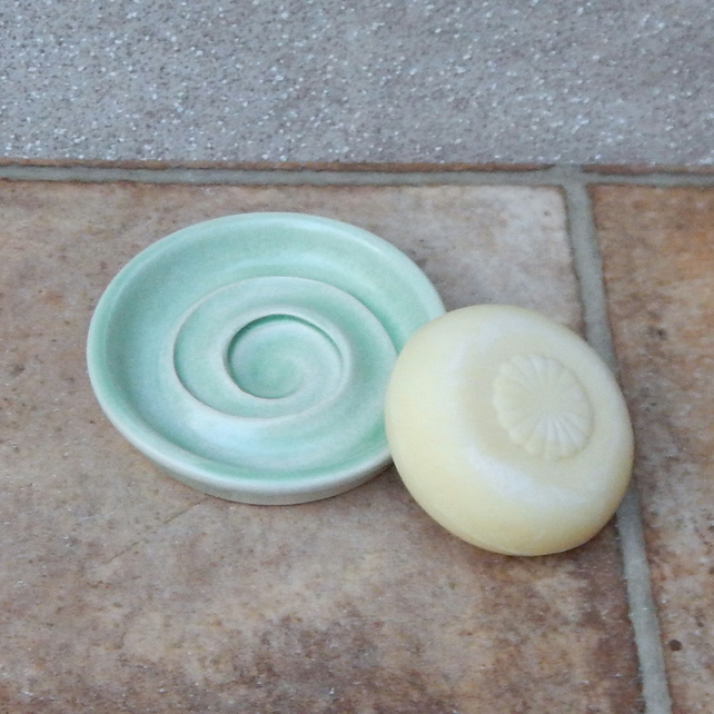 Soap dish hand thrown in stoneware pottery ceramic soapdish