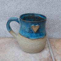 Coffee mug tea cup wheel thrown in stoneware ceramic pottery handmade