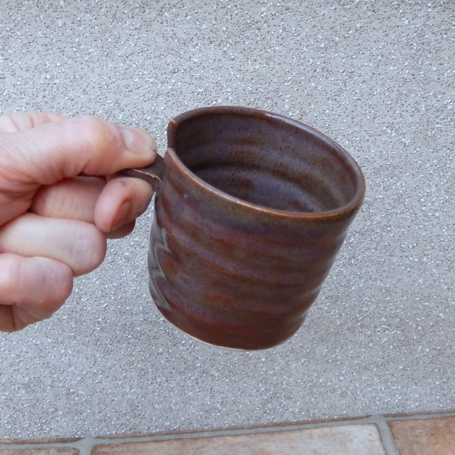 Espresso coffee cup or whisky tumbler in stoneware hand thrown