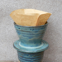 Coffee filter holder dripper pourover hand thrown stoneware pour pottery ceramic