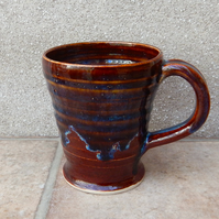 Coffee mug tea cup handthrown in stoneware pottery handmade wheelthrown