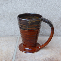Coffee mug tea cup in stoneware hand thrown ceramic wheelthrown pottery handmade