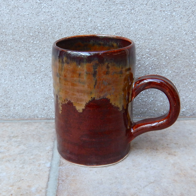 Coffee mug tea cup handthrown stoneware wheel thrown pottery handmade ceramic