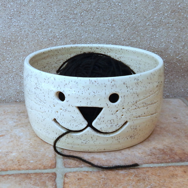 Yarn bowl knitting or crochet wool hand thrown ceramic pottery handmade