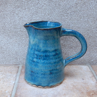 Jug or pitcher water milk wine hand thrown stoneware handmade pottery ceramic