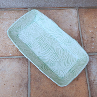 Serving dish platter oven proof handmade in textured stoneware pottery ceramic