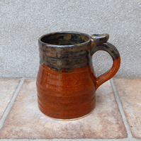 Beer stein tankard large mug hand thrown stoneware pottery ceramic handmade