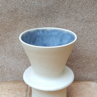 Large coffee filter holder dripper pourover handthrown stoneware pottery ceramic
