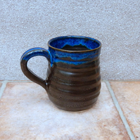 Coffee mug tea cup handthrown in stoneware wheel thrown pottery handmade ceramic