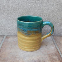 Coffee mug tea cup wheel thrown in stoneware pottery handmade ceramic