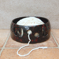 Yarn bowl knitting or crochet wool hand thrown ceramic pottery handmade second