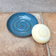 Soap dish in stoneware hand thrown soapdish