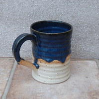 Coffee mug tea cup hand thrown in stoneware pottery ceramic