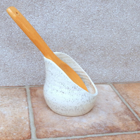 Spoon rest hand thrown pottery ceramic spoonrest handmade wheelthrown