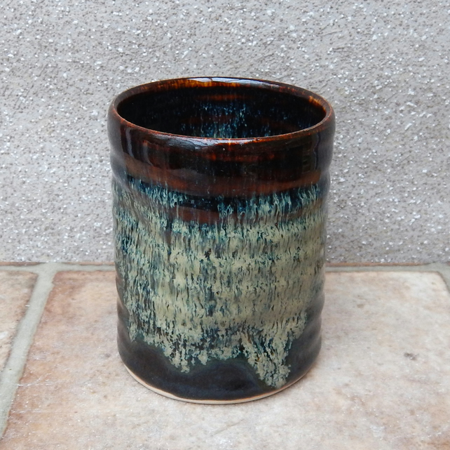 Yunomi, wine, water, tea or juice beaker tumbler cup handthrown in stoneware
