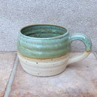 Coffee mug tea cup  handthrown in stoneware pottery
