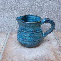 Jug or pitcher hand thrown stoneware handmade pottery wheelthrown ceramic