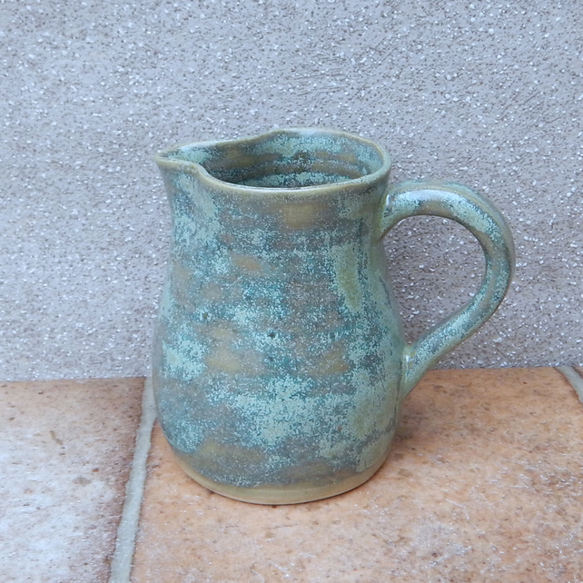 Jug or pitcher pint hand thrown stoneware pottery wheelthrown ceramic handmade