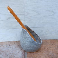 Spoon rest hand thrown pottery ceramic spoonrest