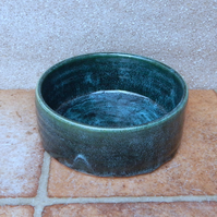 Dog food bowl hand thrown stoneware pottery ceramic meat feed