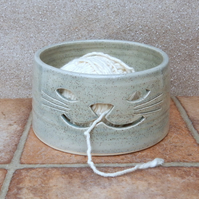 Yarn bowl knitting or crochet wool hand thrown ceramic pottery