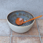Large noodle soup bowl hand thrown in stoneware pottery ceramic
