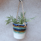 Hanging herb planter hand thrown pottery ceramic handmade plant pot