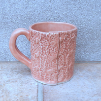 Knitted mug coffee tea cup stoneware ceramic pottery knitting texture handmade