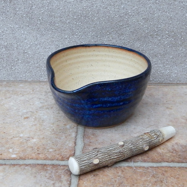 Pestle and mortar spice herb grinder stoneware hand thrown pottery handmade