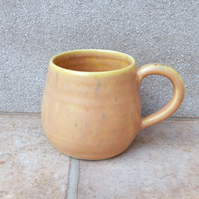 Coffee mug tea cup in stoneware hand thrown pottery wheelthrown ceramic handmade