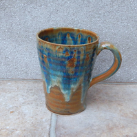 Latte coffee mug tea cup stoneware pottery handmade wheelthrown ceramic