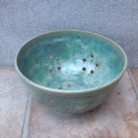 Berry bowl or colander hand thrown stoneware pottery ceramic handmade drainer