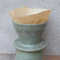 Coffee filter holder dripper pourover hand thrown stoneware pour over pottery