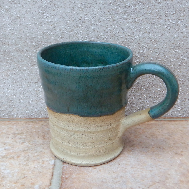 Latte mug coffee tea cup hand thrown stoneware pottery wheelthrown handmade