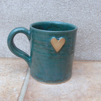 Coffee mug tea cup in stoneware hand thrown ceramic wheelthrown pottery