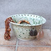 Jewellery bowl for organising displaying your jewelry hand thrown pottery cerami