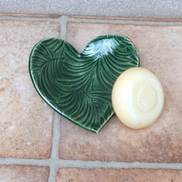 Soap dish trinket bowl spoonrest heart handmade soapdish stoneware pottery
