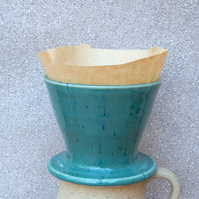 Coffee filter holder dripper pourover hand thrown stoneware pottery pour over