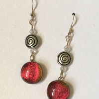Fused Glass Drop Earrings