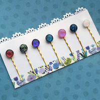 Fused Glass Hair Slides