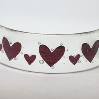 Fused Glass Hearts Curve