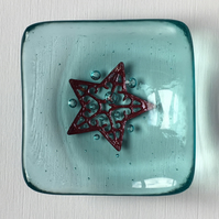 Little Star Fused Glass Trinket Dish
